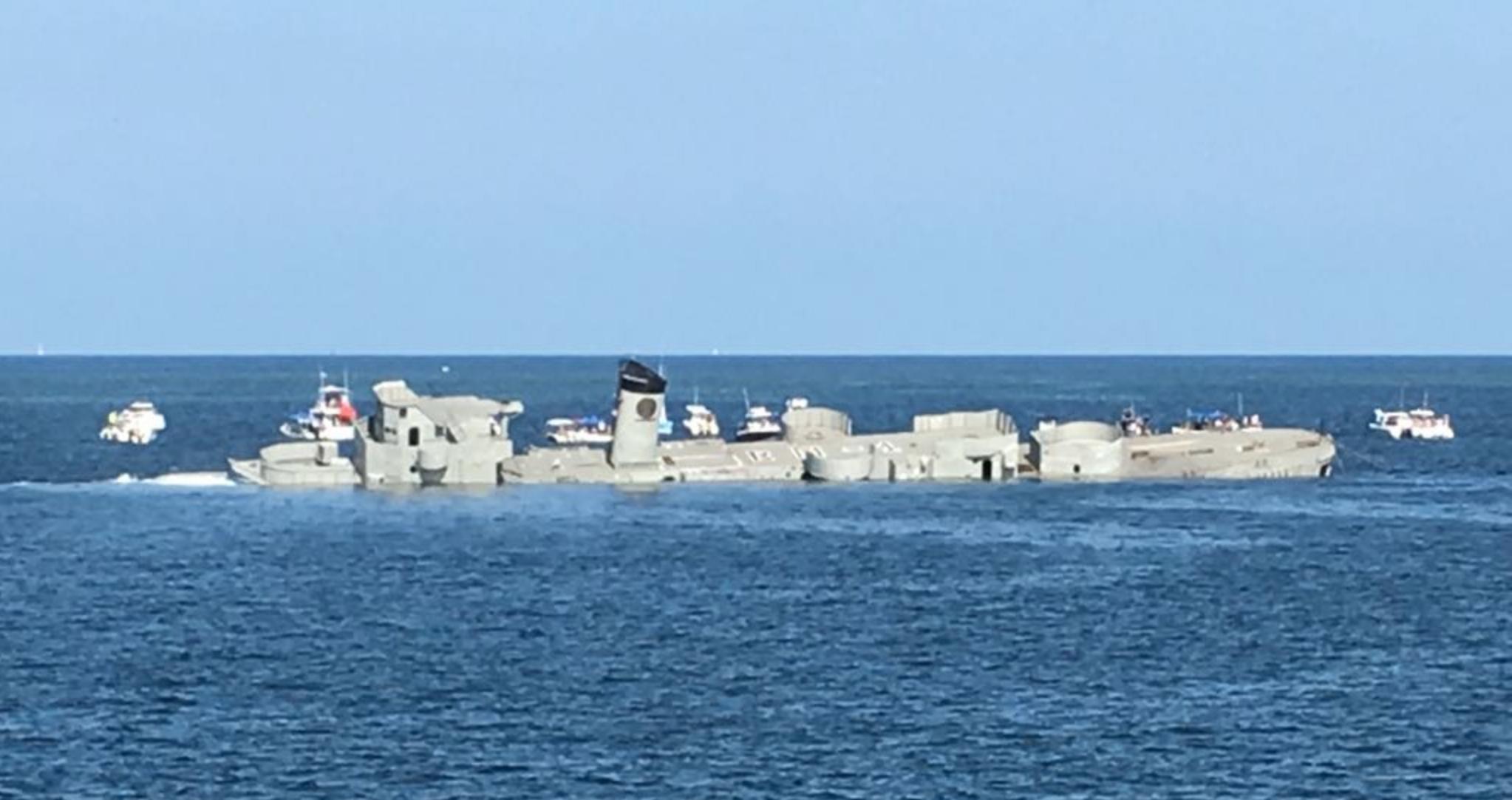 Casco de ex buque será arrecife artificial | Sitquije